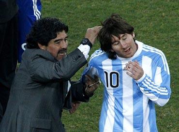 Lionel Messi and Maradona