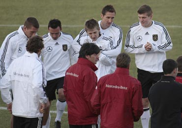 Germany team during a training session