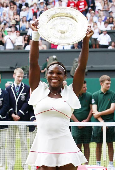 Serena Williams after winning the Wimbledon