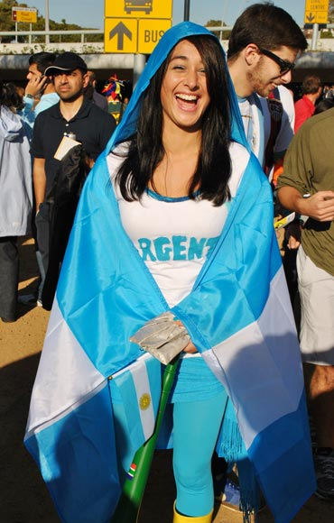 An Argentinean supporter