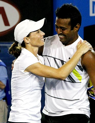 Leander Paes with Cara Black