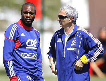 William Gallas with Domenech
