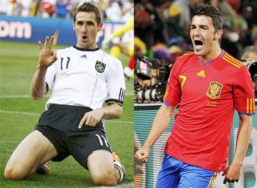 Miroslav Klose and David Villa