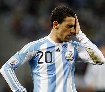 Argentina's Maxi Rodriguez