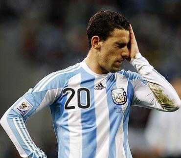 Argentina's Maxi Rodriguez