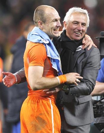 Arjen Robben  with Bert Van Marwijk