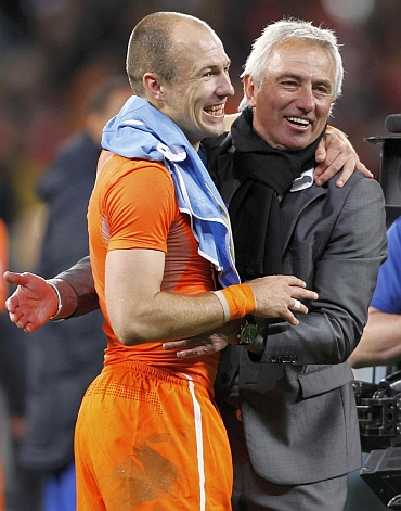 Arjen Robben and Bert van Marwijk
