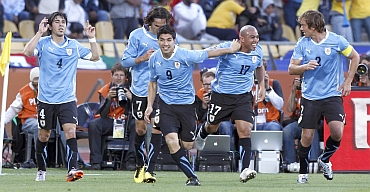 Uruguay team during a match