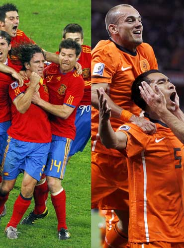 Spain's first final and a third for the Dutch