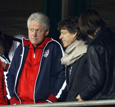 Bill Clinton and Mick Jagger
