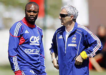 Raymond Domenech with William Gallas