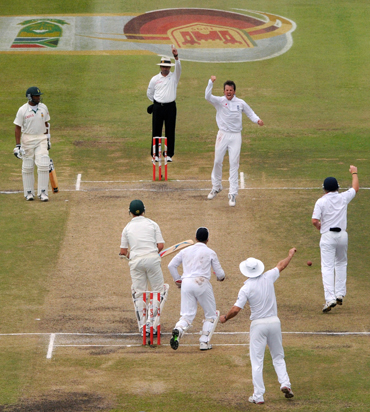 A Test match at Kingsmead cricket ground