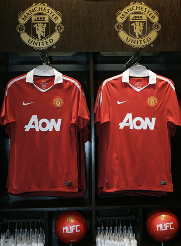 Manchester United's new jerseys are on display