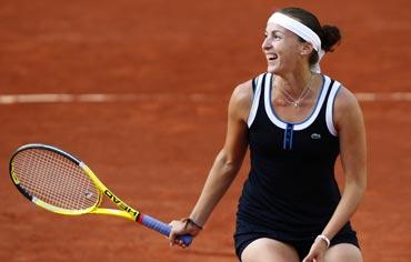 Yaroslava Shvedova smiles after winning her match