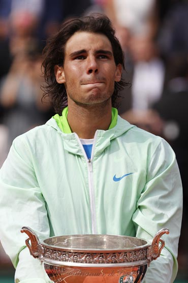 An emotional Nadal