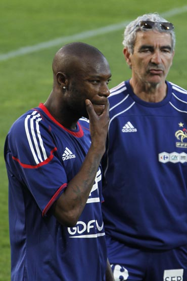 Raymond Domenech and William Gallas