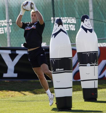 England goalkeeper Joe Hart during a training session