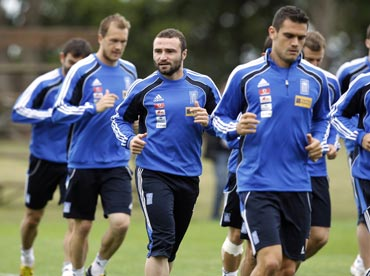 Greece team during a training session in Durban