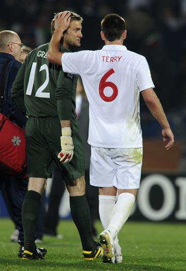 John Terry tries to console Robert Green after the match