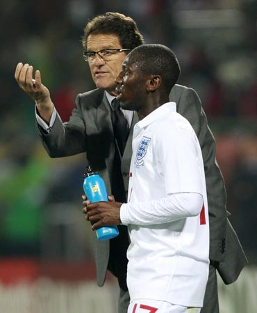 Fabio Capello along with Shaun Wright-Philips
