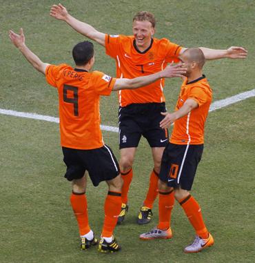 Kuyt, Van Persie and Sneijder