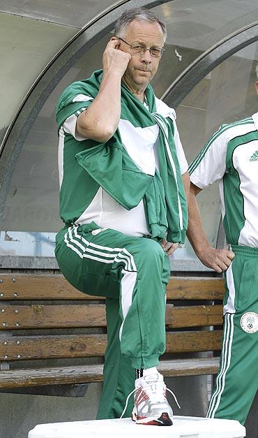 Nigeria's coach Lars Lagerback