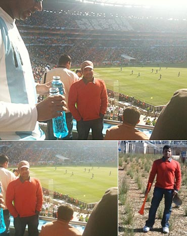 Anil Desai at Soccer City for the Argentina-Korea match