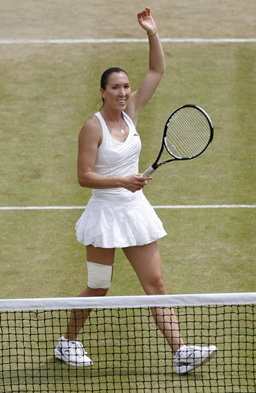 Jankovic celebrates defeating Bondarenko