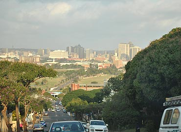 Topography of Durban undulating