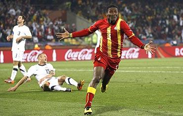 Gyan nets the winner for Ghana