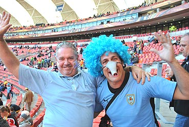 Uruguayan fans at the match