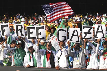 Algeria fans during a match between US and Algeria