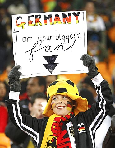 A German fan shows his support