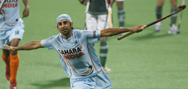 Prabjot Singh celebrates after scoring