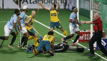 Australian Team celebrate after scoring