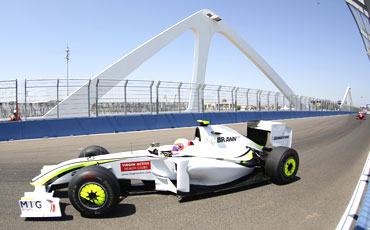 Brawn GP's Rubens Barrichello in action during the European Grand Prix