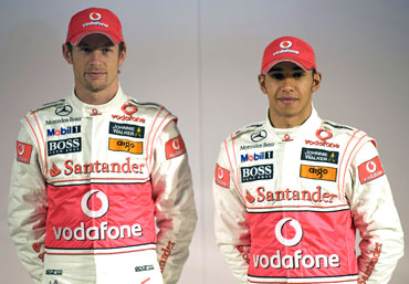 Jenson Button and Lewis Hamilton