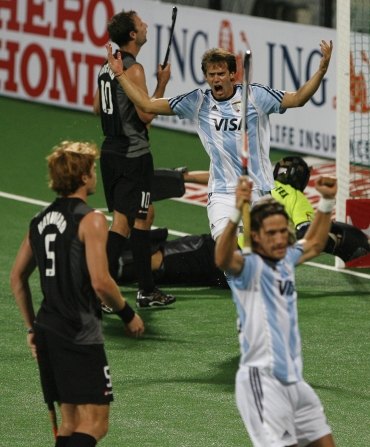 Facundo Callioni ecstatic after scoring a goal