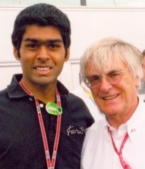 karun chandok and bernie ecclestone