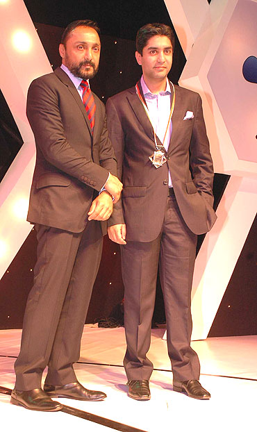 Rahul Bose with Abhinav Bindra