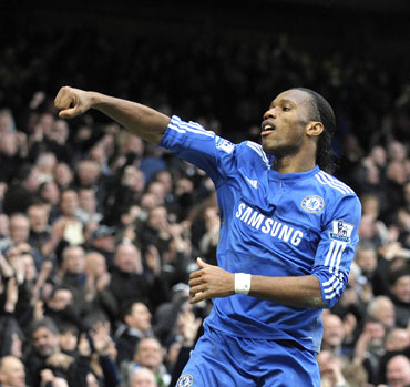 Drogba scored two goals against West Ham