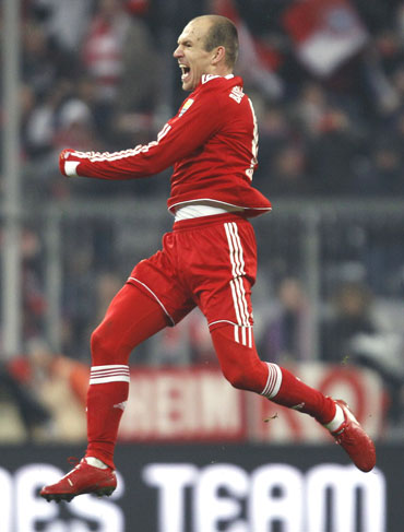 Robben scored a brace against Freiburg