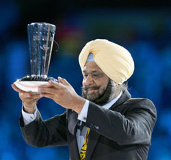 Randhir Singh at the Melbourne Commonwealth Games