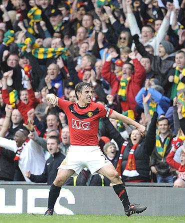 Manchester United captain Gary Neville