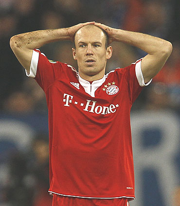 Bayern's main striker Arjen Robben will miss out due to injury