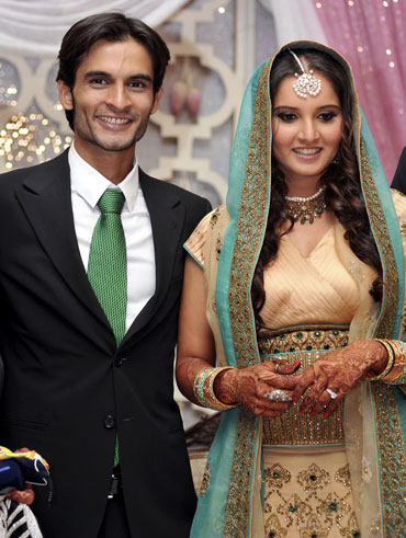 Sohrab Mirza and Sania Mirza in happier times