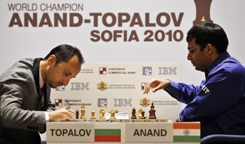Viswanathan anand and Topalov