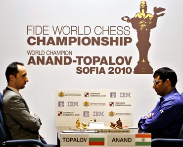 Veselin Topalov and Viswanathan Anand