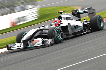 Michael Schumacher in action at the Australian GP