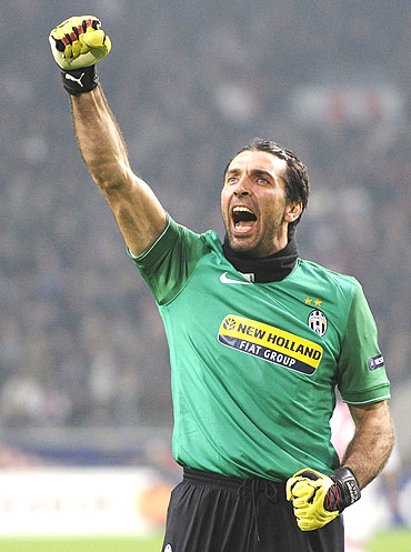 Juventus keeper Gianluigi Buffon